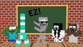 Monster School: BOTTLE FLIP CHALLENGE VS GRANNY + SLENDRINA + BALDI