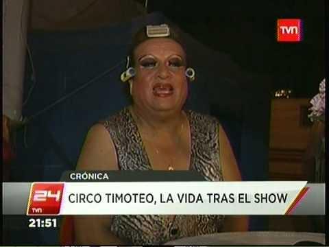 LA HISTORIA DEL CIRCO TIMOTEO ENTREVISTA RENE VALDES SU FUNDADOR 24HORAS TVN 11 02 2014