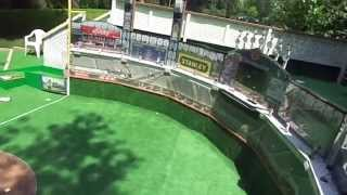 18 holes of baseball themed minigolf