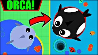 MOPE.IO ORCA ✪ THE KILLER WHALE   WHALE AFTER SHARK   Mope.io OCEAN UPDATE   NEW UPDATE (Mope.io)
