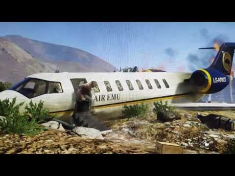 GTA 5 avião caindo. show