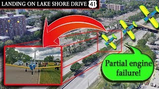 [REAL ATC] Ercoupe makes a FORCED LANDING ON LAKE SHORE DRIVE!