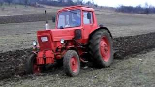 MTZ-80 plowing