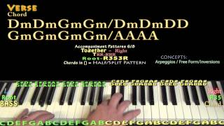 I Put A Spell On You (Annie Lennox) Piano Lesson Chord Chart