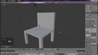 Tutorial membuat kursi sederhana di Blender