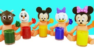Learn Colors Finger Family Song Nursery Rhymes Collection Baby Paint Mickey Mouse Slime Molds Fun