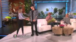 Justin Bieber trying to do The Nae Nae Dance on Ellen show