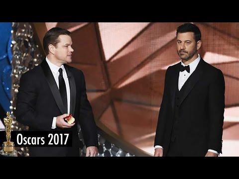 Jimmy Kimmel vs Matt Damon Feud Lives at the 2017 Oscars