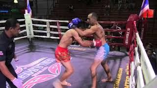 Joe (Sinbi Muay Thai) from Australia wins by TKO at Rawai Boxing Stadium
