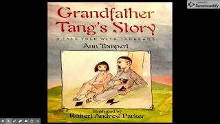"""Mr. Boyd reads """"Grandfather Tang's Story"""""""