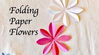 How to make 8 petal Paper Flowers : Craft : สอนพับดอกไม้ 8 กลีบสวยๆและทำง่าย