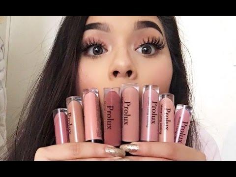 Mi gusto culposo: labiales líquidos Prolux | Lip swatches + Reseña♡ | Estrella Fs