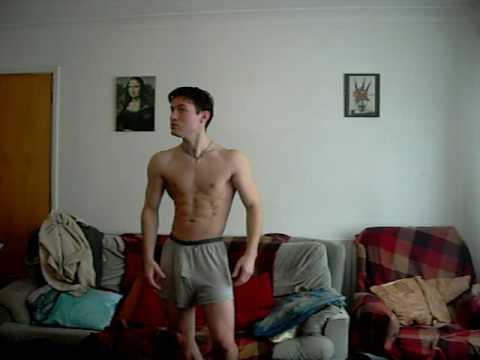 Posing after 3 months of using Serge Nubret s training method