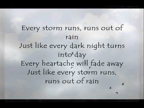 Every Storm (Runs out of Rain); Gary Allan [ON-SCREEN LYRICS]