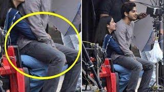 Ishaan Khattar Spotted Sitting On Jhanvi Kapoor Lap On Dhadak Movie Set