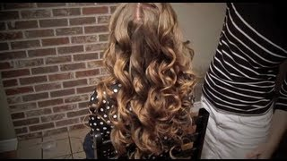 Soft Curls with Side French Braid