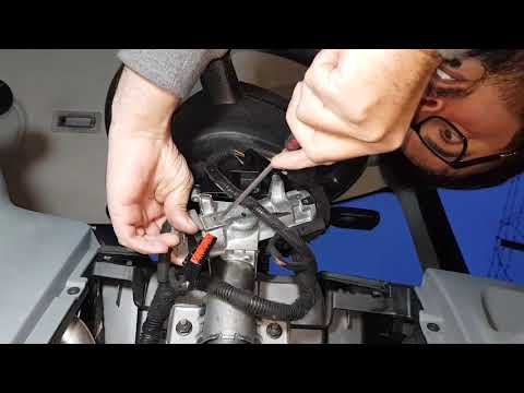 Ford Transit ignition switch & throttle paddle replacement & fix warning lights