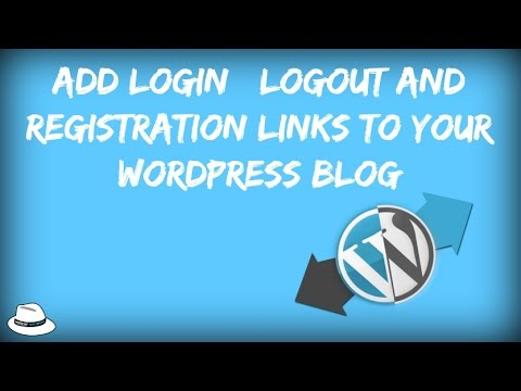 Add Login | Logout And Registration Links To Your WordPress Blog