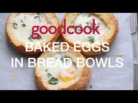 Baked Eggs in Bread Bowls | Good Cook