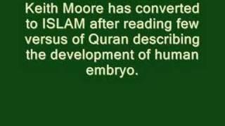 Keith Moore converted to Islam كيث مور يعتنق الإسلام