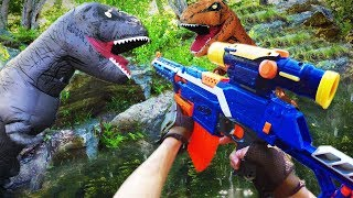 Nerf War: Jurassic Park Dinosaur Battle