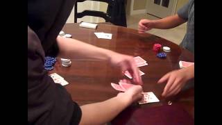 Kid Plays Texas Hold em'