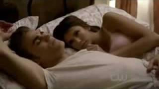 Vampire diaries 2x06 - Stefan and Elena bed scene