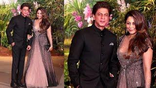 Shahrukh Khan's GRAND ENTRY With Wife Gauri Khan At Sonam Kapoor & Anand Ahuja's Wedding Reception