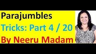 parajumbles tricks Part 4 / 20 : SSC CGL I Bank PO I CAT I CLAT I CDS I RRB I MBA I UPSC