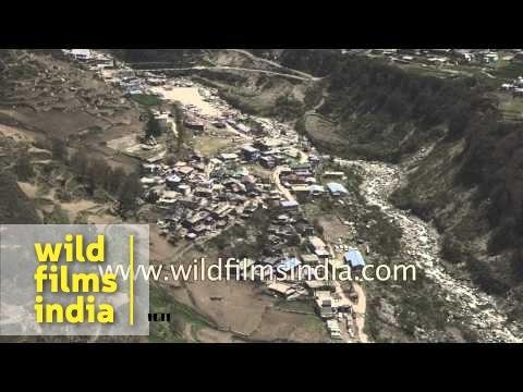 Kharsali village on way to Yamunotri - Uttarakhand