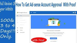 how to get adsense account approval  with proof