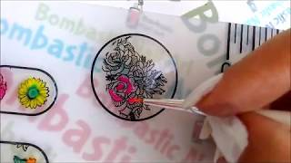 Flower Nail Art Stamping Plate | Born Pretty BPL-067: Review & Swatches