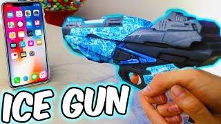 ICE GUN VS IPHONE 8 *IT BROKE*