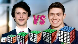 Rubik's Cube World Record Race Kevin VS Feliks VS WCA Records VS Best Of Feliks And Kevin