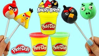 How to Make Play Doh Angry Birds Popsicles!