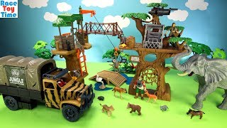 Animal Planet Safari Treehouse Playset Toys For Kids - Learn Animal Names Video