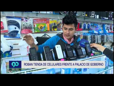 Roban tienda de celulares frente a Palacio de Gobierno