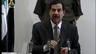 حديث الرئيس القائد صدام حسين مع الوفـد الجزائري( تضامن الوفدالجزائري ضد الحصار الظالم علي العراق)