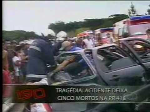 Acidente de transito deixa cinco mortos na PR 418.