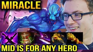 MIRACLE Night Stalker Mid with Right Clink Item Build Dota 2