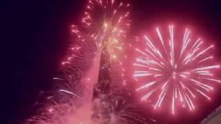 السنة الجديدة 2017 في دبي    برج خليفة اروع احتفال شاهده العالم HD   YouTube