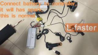 (L-faster)Electric tricycle conversion kit use brushless gear motor can load max 500Kg