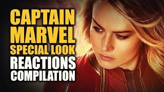 CAPTAIN MARVEL SPECIAL LOOK Reactions Compilation