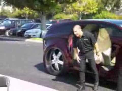 Tony Kanaan makes an entrance