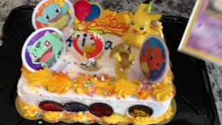 *SURPRISED* My Cousin With a POKEMON BIRTHDAY CAKE!