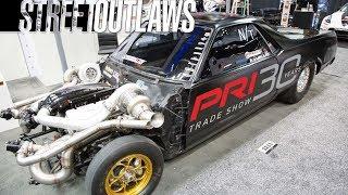 Street Outlaws at PRI 2017 Kamikaze's New Twin Turbo Elco, Reapers New Camaro