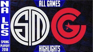 TSM vs CG Playoffs Highlights ALL GAMES | NA LCS Quarterfinals Spring Team Solomid vs Clutch Gaming