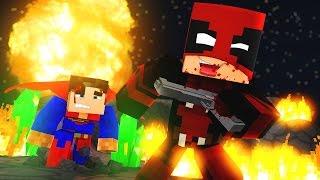 Minecraft: SUPER HEROES PVP #39 - SUPERMAN VS DEADPOOL ‹ Ine ›