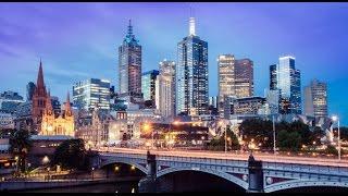 Melbourne, Australia, City center in 4K