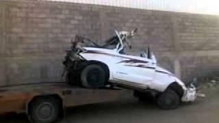 .نهاية سيارة حمود الشهري حادث 2010 هايلكس 2008
